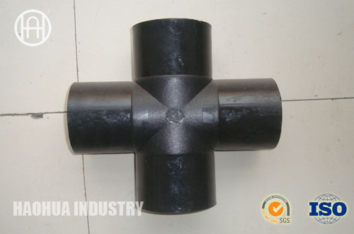 Carbon steel forged pipe fitting socket weld cross butt